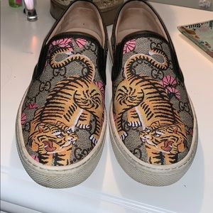 Gucci Bengal Tiger Slip On Sneakers